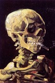 Skull with Cigarette Vincent Van Gogh