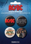 AC/DC AC/DC Button Badge Pack