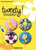 Warner Bros: Tweety Pie Tweety Pie Button Badge Pack