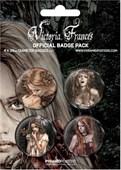 Official Victoria Frances Gothic Art Victoria Frances Button Badge Pack
