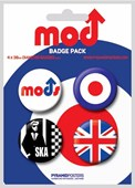 The Mods - Brit Badges Mods Button Badge Pack