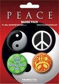 Ying and Yang, CND, Peace, Love and all that Shit Peace Button Badge Pack