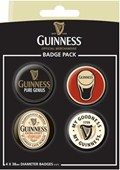 Guinness, Pure Genius Official Guinness Button Badge Pack