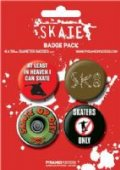 Skate or Die Skater Badge Pack