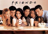 Friends Cast with Milk Shakes Friends
