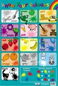 Know Your Colours Educational Children's Chart