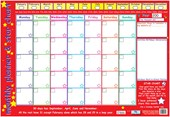 Monthly Planner and Star Chart Children's Planner