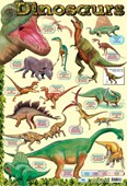 Dinosaur Chart Creatures of a Lost World