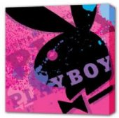 Pink Playboy Bunny Hugh Heffner's Playboy Canvas