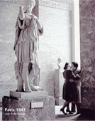 Love in the Louvre Paris, France 1947