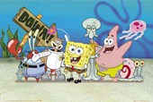 Spongbob, Patrick, Sandy and Squidward Spongebob Squarepants