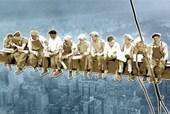 Pop Art Style Men On A Girder Above New York, USA
