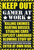 Keep Out - Gamer at Work Gaming Keep Out Leave Food At The Door