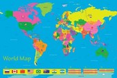 The World in Colour Children's World Map