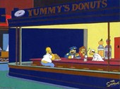 Nighthogs [apologies to Edward Hopper] The Simpsons