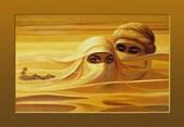 A Couple in the Dunes Arabian Desert