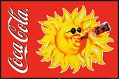 Even the Sun drinks Coke Coca-Cola