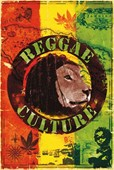 Reggae Culture Collage of Reggae Symbols