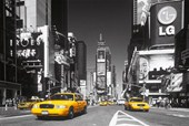 Yellow Cab In Times Square