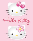 Pink 3D Pair Hello Kitty