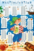 Pirate Learning Fun Multiplication Tables