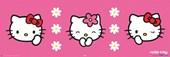 Pretty Pink Triptych Hello Kitty
