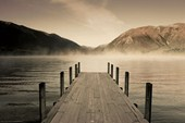 Jetty at Lake Rotoiti Peaceful Lakeside Scene
