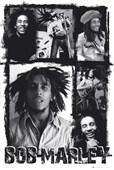 Monochromatic Collage Bob Marley