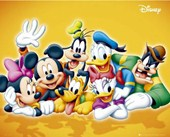 Classic Disney Characters Mickey Mouse, Donald Duck and Friends