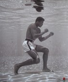 Muhammad Ali Under Water Flip Schulke