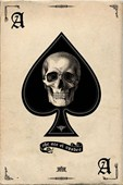 Ace of Spades Gothic Playing Card