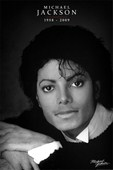 Black and White Portrait Michael Jackson