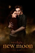 Edward Cullen and Bella Swann Embrace Twilight: New Moon
