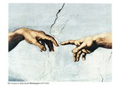 The Creation of Adam, (hands detail) Michelangelo Buonarotti