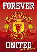 Forever United Man Utd FC Club Badge Manchester United Football Club