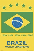 Football World Champions Brazil Brazil - Football World Cup Winners