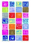Retro American Advertisements Vibrant Collage