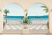 Terrasse Proven�ale  8 Sheet Mediterranean Wall Mural