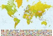 Map of the World 8 Sheet World Map Wall Mural
