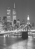 Brooklyn Bridge by Henri Silberman 4 Sheet Cityscape Wall Mural