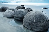 Beach Boulders Moeraki Evening