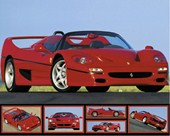 Red Speed Machine Ferrari F-50
