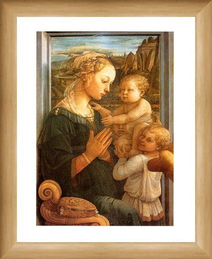 Framed Framed Madonna Col Bambino - Filippo Lippi