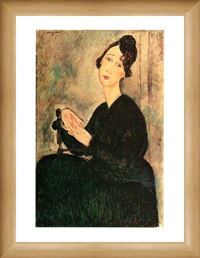 Framed Framed Ritratto Di Dedie - Amedeo Modigliani