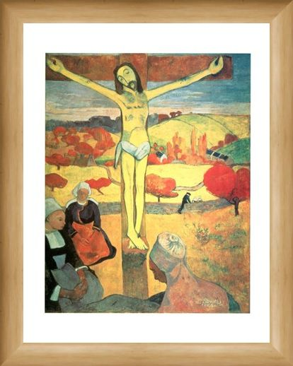 Framed Framed Yellow Christ - Paul Gauguin