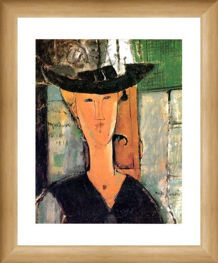 Framed Framed Madame Pompadour - Amedeo Modigliani