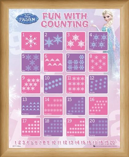 Framed Framed Fun With Counting - Disney's Frozen