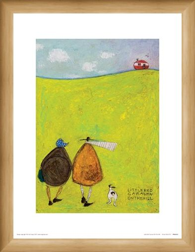 Framed Framed Little Red Caravan On The Hill - Sam Toft