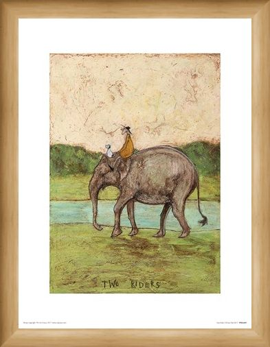Framed Framed Two Riders - Sam Toft