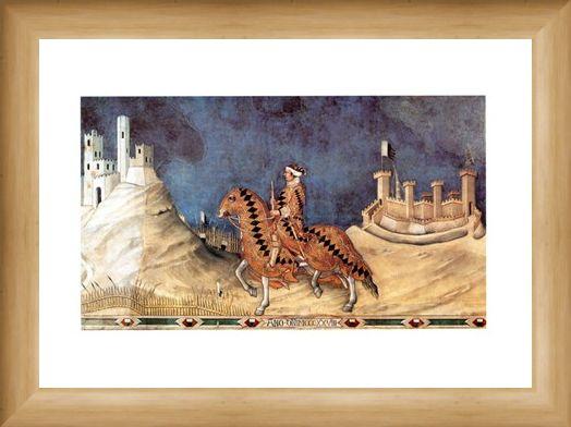 Framed Framed Guido Riccio Da Fogliano - Simone Martini